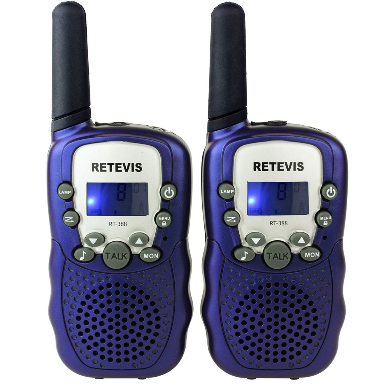 Retevis RT-388 Kids Walkie Talkies Boys 0.5W License Free 22CH FRS Toy Walkie Talkies(Blue, 2 Pack)