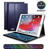 iPad Keyboard Case 9.7 for New iPad 2018 (6th Gen) - iPad Pro 2017 (5th Gen) - iPad Air 2/1, 7 Color Backlit Keyboard…