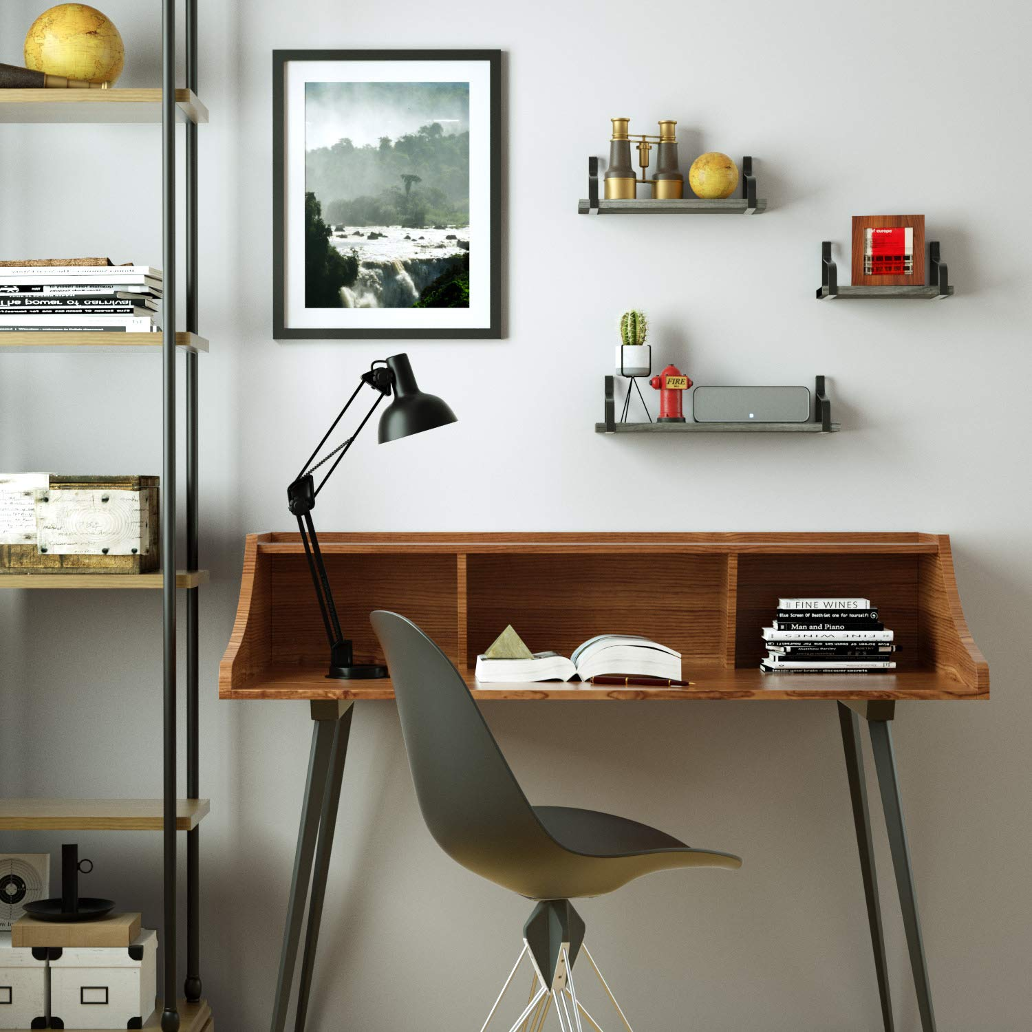 Excellent Details About Love Kankei Floating Shelves Wall Mounted Rustic Wood Wall Shelves Set Of 3 Download Free Architecture Designs Lukepmadebymaigaardcom