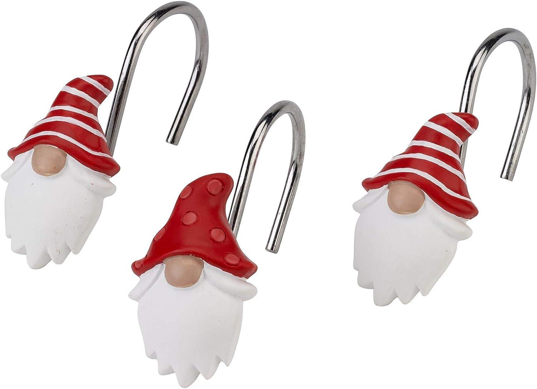 Avanti Linens Gnome Walk Shower Hooks Multicolor