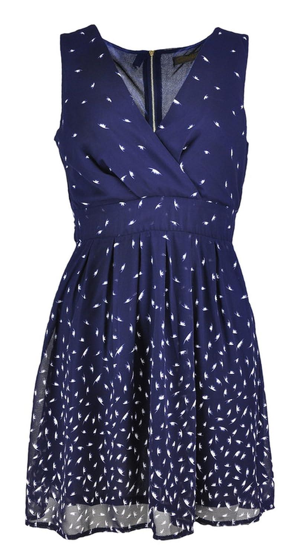 Damen ärmellos V-Ausschnitt-Entwurfs-Kleid mit Rücken Bindungs