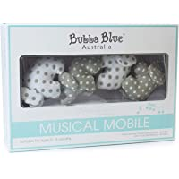 Bubba Blue Petit Elephant Musical Mobile, Neutral Grey/White