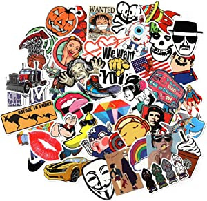 9 Series Stickers 100 pcs/Pack Stickers Variety Vinyl Car Sticker Motorcycle Bicycle Luggage Decal Graffiti Patches Skateboard Stickers for Laptop Stickers for Kid and Adult (B)
