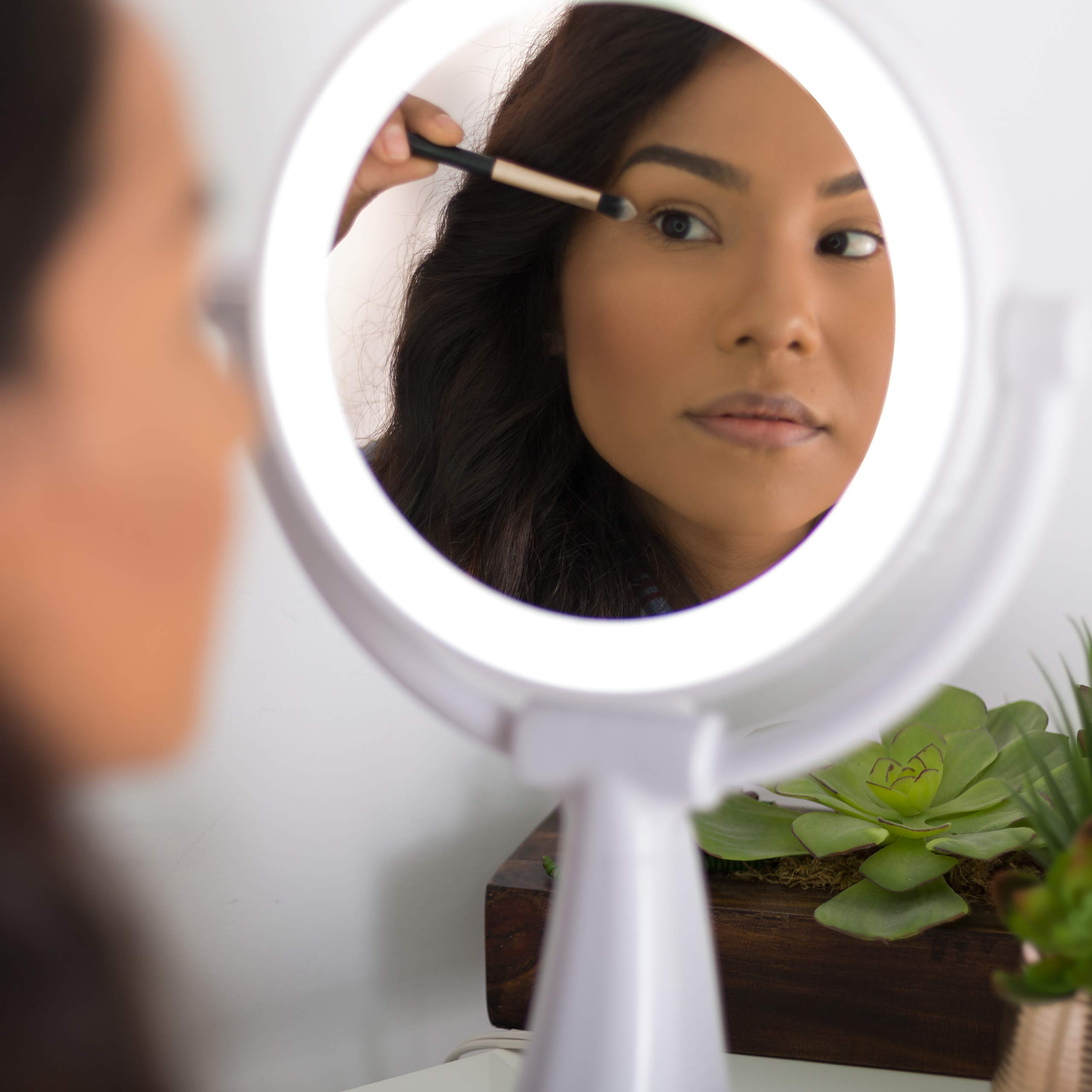 Zadro Max Bright Sunlight Dual Sided Vanity Mirror, White, 10X/1X Magnification by Zadro (Image #3)