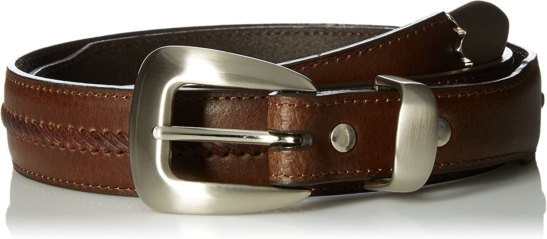 Mens Work Brown Triple Stitch Nocona Belt Co