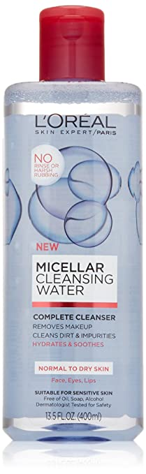 LOreal Paris Micellar Cleansing Water Complete Cleanser Convatec 125265 Stomahesive Skin Barrier 2 1/4 Flange - Tan - Box of 10