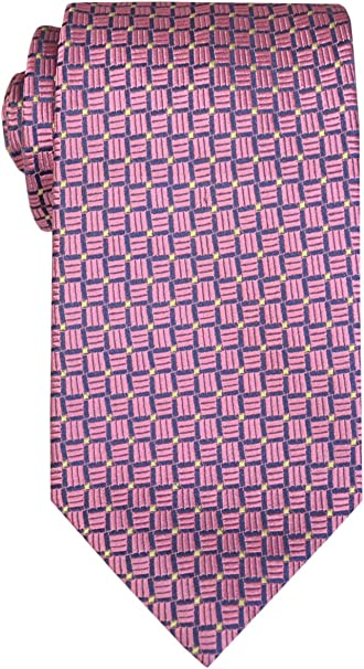 Remo Sartori Made In Italy Cravatta in Pura Seta Microfantasia Uomo