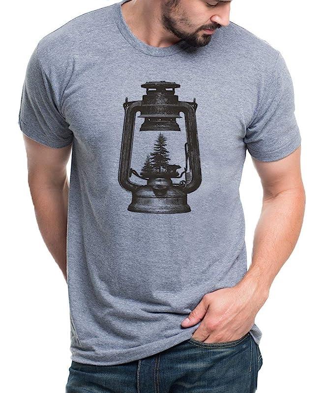 Grunge Forest Design Sizes S-XXL Graphic Tees By Black Lantern Screen Printed Tri Blend T Shirt in Tri-Black