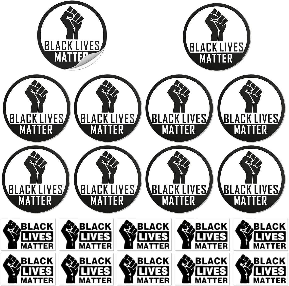 20PCS Black Lives Matter Anti-Racism BLM Movement Bumper Sticker Magnet Car Window Sticker Laptop Decal