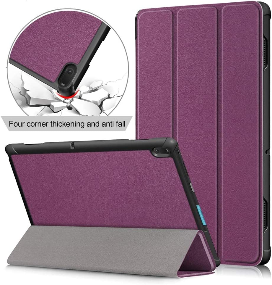 10.1 inch Tablet Case for Lenovo Tab E10 (NOT Fit Tab P10/ M10),[DETUOSI] Premium Lightweight Folio Case Lenovo Tab E 10.1 inch (TB-X104) Slim Folding Stand Covers,Purple