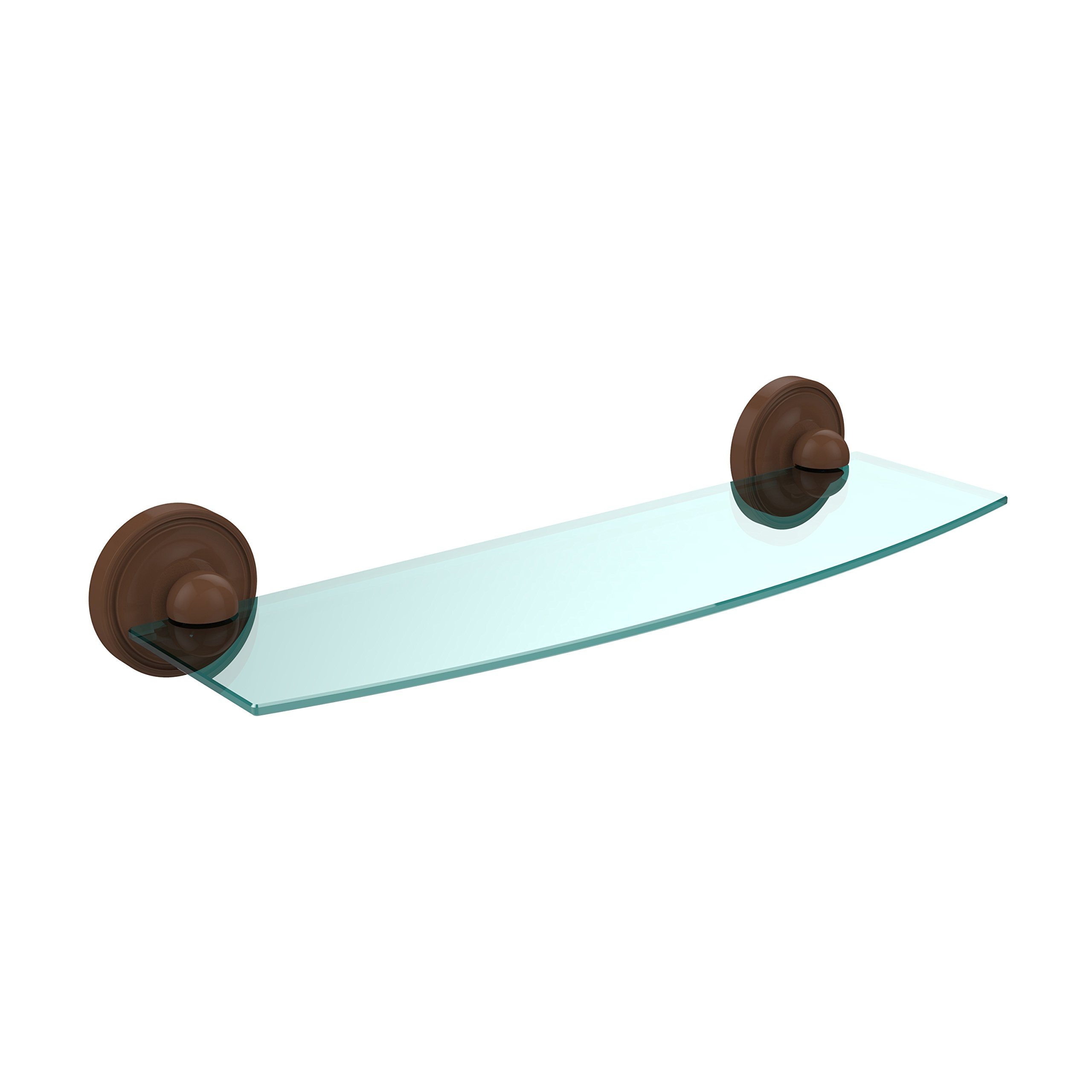 Allied Brass PR-33/18-SN Double Corner Glass Shelf Venetian Bronze