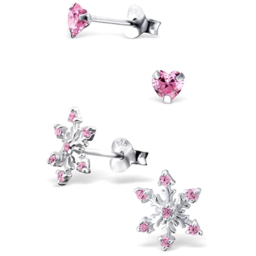 35db0835da0 Image Unavailable. Image not available for. Color  925 Sterling Silver  Hypoallergenic Set of 2 Pairs ...