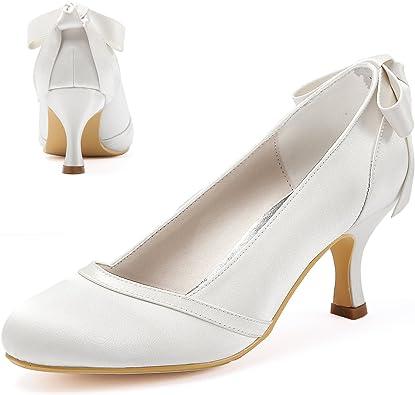 Chaussure mariage petits talons avec cristal Annie