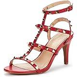 DREAM PAIRS Women's HEROINEE Fashion Stilettos Open Toe Pump Heeled Sandals