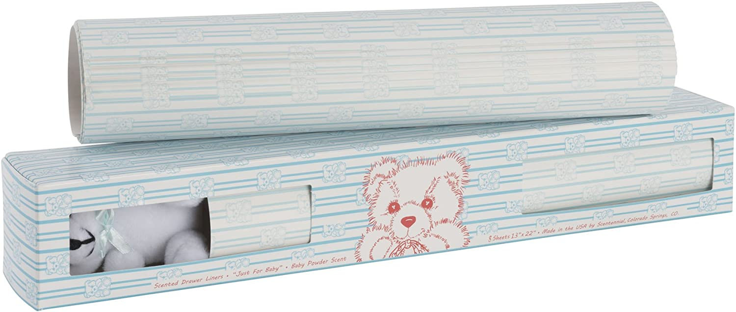 Scentennials Baby Original Blue with Teddy Bear (8 Sheets) Scented Drawer Liners