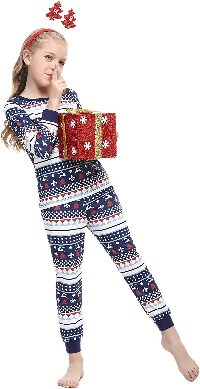 Sykooria Matching Family Christmas Pajamas Set Womens Mens Boys Girls Kids Snowman Reindeer Top /& Plaid Pants