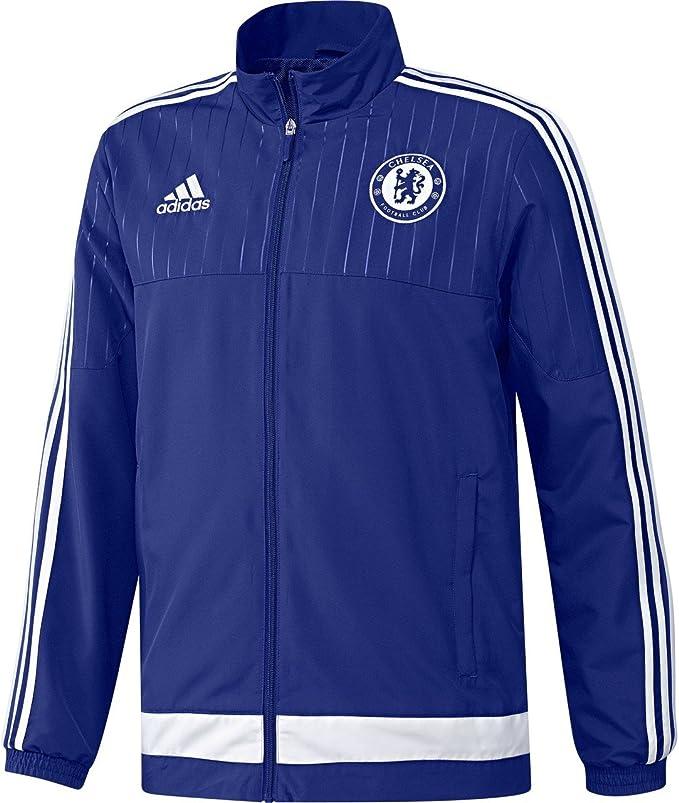 adidas CFC PRE JKT - Chaqueta para hombre, color azul / blanco ...