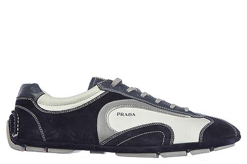 Prada Scarpe Sneakers Uomo camoscio Nuove Montecarlo Active Blu  Amazon.it  Scarpe  e borse 0c0756eef82