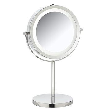 Standspiegel Mit Beleuchtung | Kosmetikspiegel Schminkspiegel Rasierspiegel Spiegel Standspiegel
