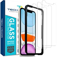 Tech Armor Ballistic Glass Screen Protector for Apple iPhone 11 / iPhone Xr - Case-Friendly Tempered Glass [3-Pack…