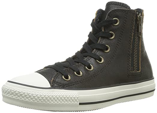 160a8de66095 Converse Women s Chuck Taylor All Star Side Zip Hi Top Black (M US3   W