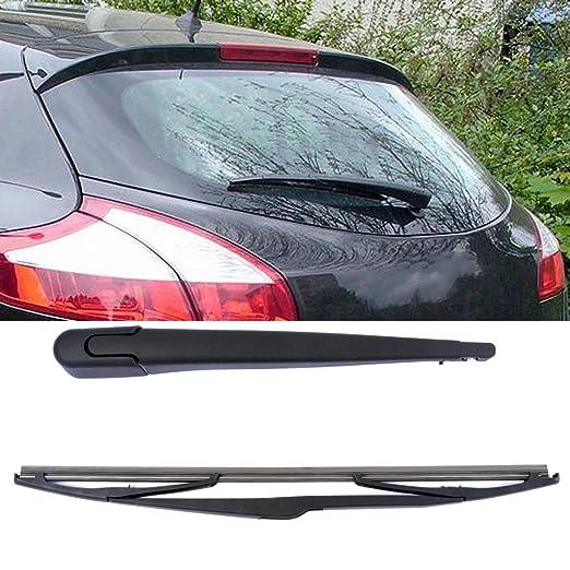 Brazo y Escobilla para limpiaparabrisas trasero (350 mm), color negro, 2 unidades: Amazon.es: Coche y moto