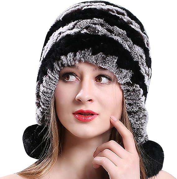 Ankoee Hiver Chapeau Chapkas Casquette Femme Fausse Fourrure Fille Beret Bonnet Beret Chapeaux