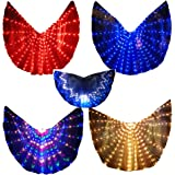 Geek3C LED Isis Wings Glow Light Up Belly Dance Costumes Sticks Performance Clothing Carnival Halloween