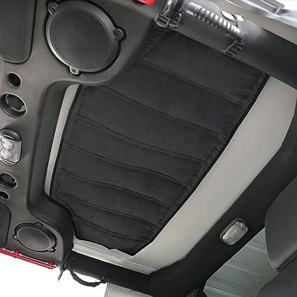 Hooke Road Hardtop Headliner Roof Insulation Kit for 2007-2018 Jeep  Wrangler JK 4-Door