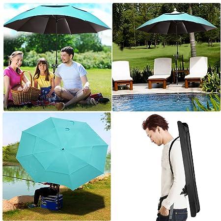 Beach Umbrella Portable Outdoor Sun Beachs Umbrellas 100 Antiultraviolet 100 Waterproof 360 Tilt.Sky Blue