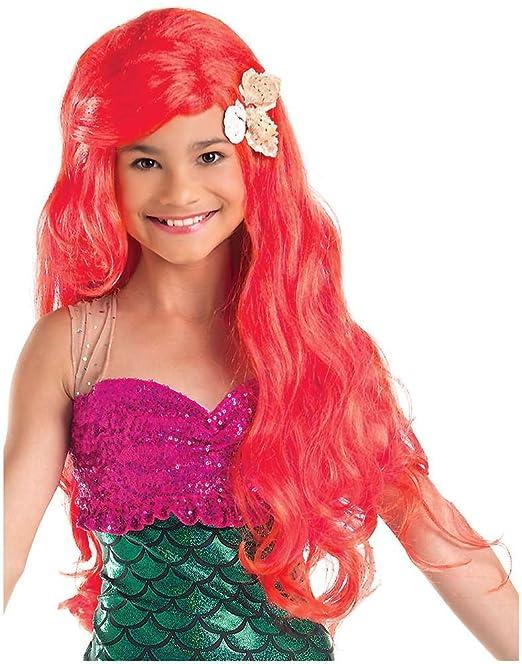 Unkonwn Disfraz infantil en peluca de la Sirenita de ...