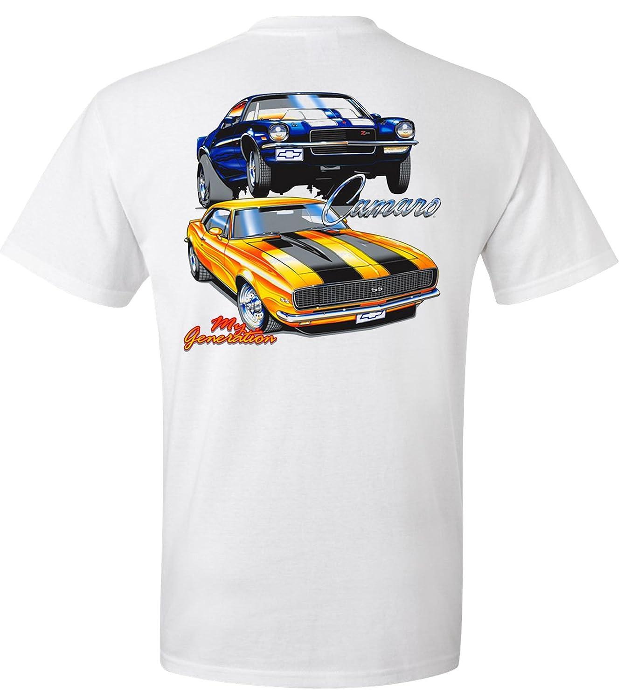 372a3d3e Amazon.com: 1969 Camaro SS & 1970 Camaro Z28 My Generation T-Shirt 100%  Cotton Preshrunk: Clothing
