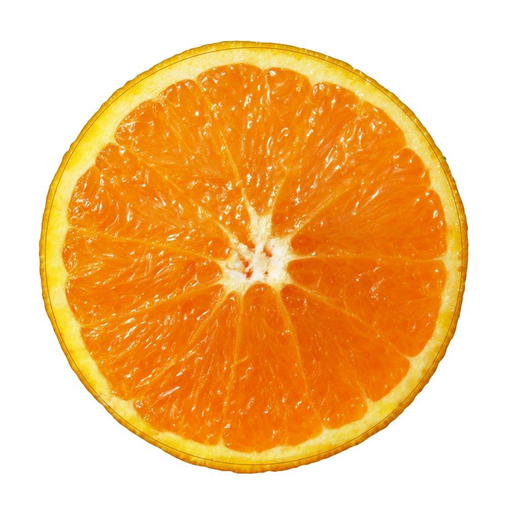 YOUJIA Paillassons Rond de Porte Entr/ée Antid/érapant Tapis de Bain Impression de Fruit Absorbant Tapis de Sol Citron #1, 55cm