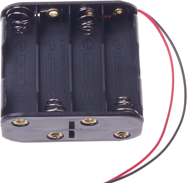 Clip Holder Box Case Black 12v Katigan 8pcs Aa Cells Battery