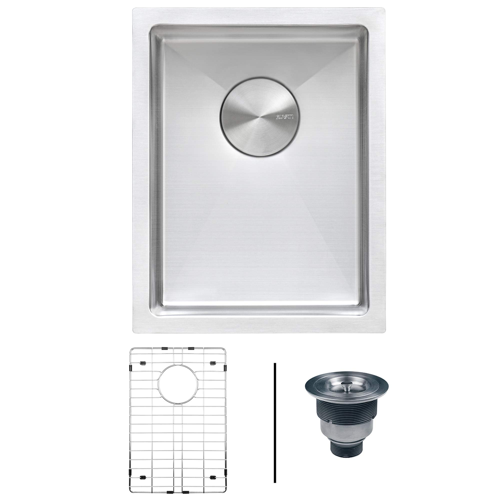 Ruvati 14-inch Undermount Wet Bar Prep Sink Tight Radius 16 Gauge Stainless Steel Single Bowl - RVH7114 by Ruvati (Image #1)