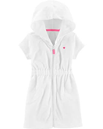 9fecb6f1fc881 Amazon.com: Carter's Girls' Terry Swim Cover Up: Clothing