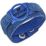 Swarovski Blue Slake Activity Crystal Bracelet Carrier - (device not included)