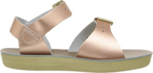 d7189e43e3bfb by HOY Shoe Girls' Sun-San Surfer Flat Sandal Rose Gold 7 M US Toddler