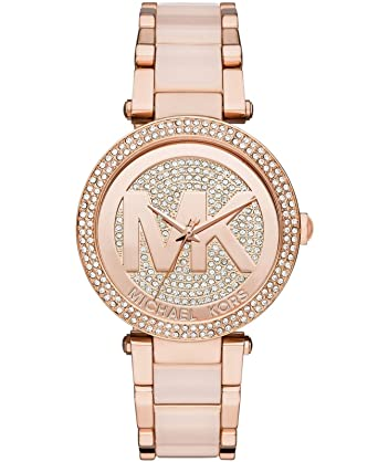 291dad002190 Amazon.com  Michael Kors Women s Parker Two-Tone Watch MK6176 ...