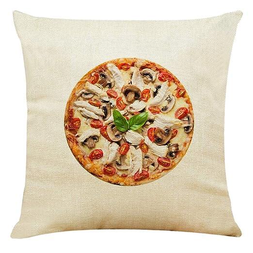 AIni Funda De Almohada De Lino,Pastel De Pizza,Decoración ...