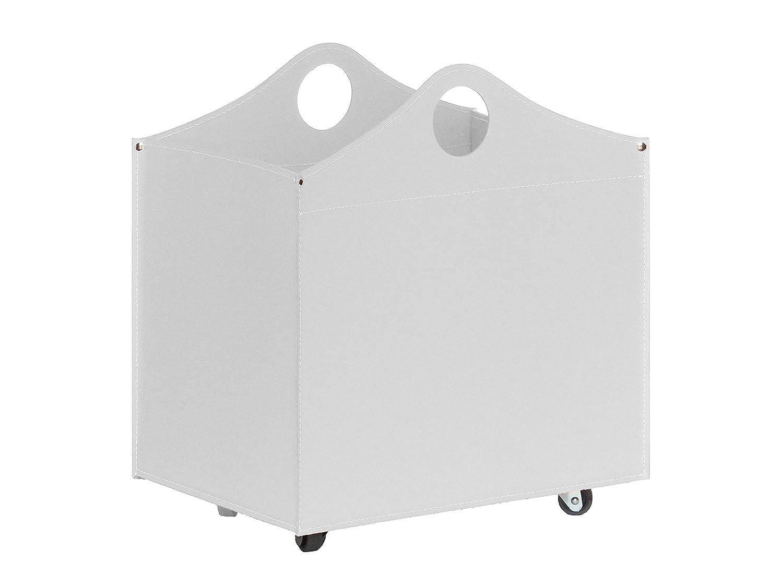 BOCAD: Set para chimenea y estufas en cuero de color Blanco compuesto por Porta Leña, Juego para la chimenea, Utensilios para chimenea, idea de regalo, ...