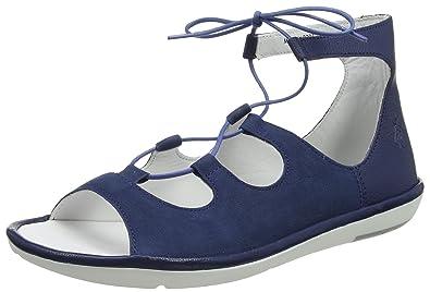Bibb854fly, Sandales Bride Cheville Femme, Bleu (Blue), 35 EUFLY London