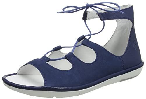 Chaussures à bout ouvert Fly London bleues femme zBJ45Hr