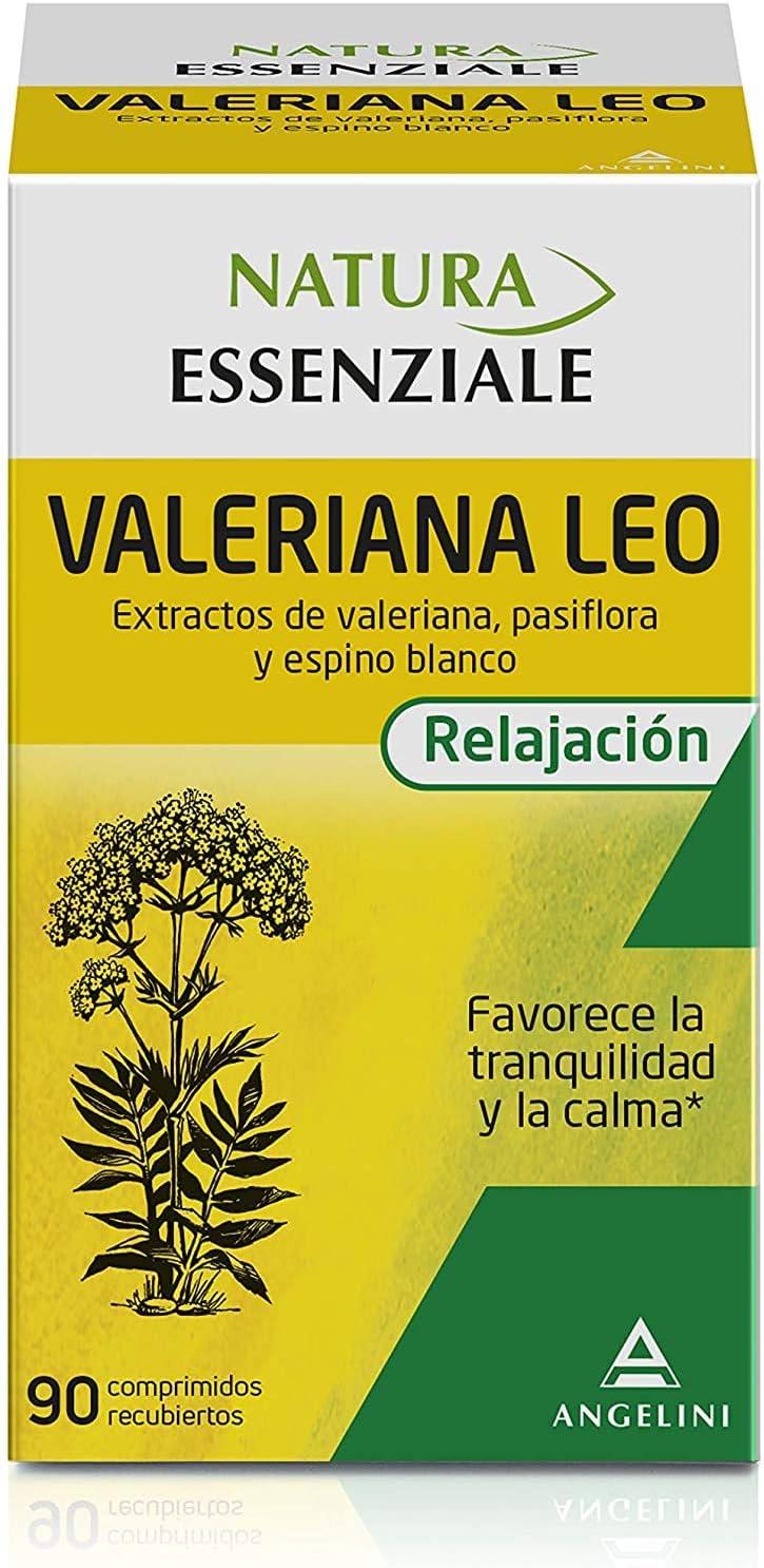 NATURA ESSENZIALE Valeriana Leo - 90 comprimidos - Favorece la tranquilidad y la calma - Complemento alimenticio con extractos de valeriana, pasiflora y espino blanco. A partir de 12 años.
