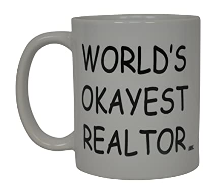 6871fbe0dce Image Unavailable. Image not available for. Color: Coffee Mug Worlds Okayest  Realtor Best ...