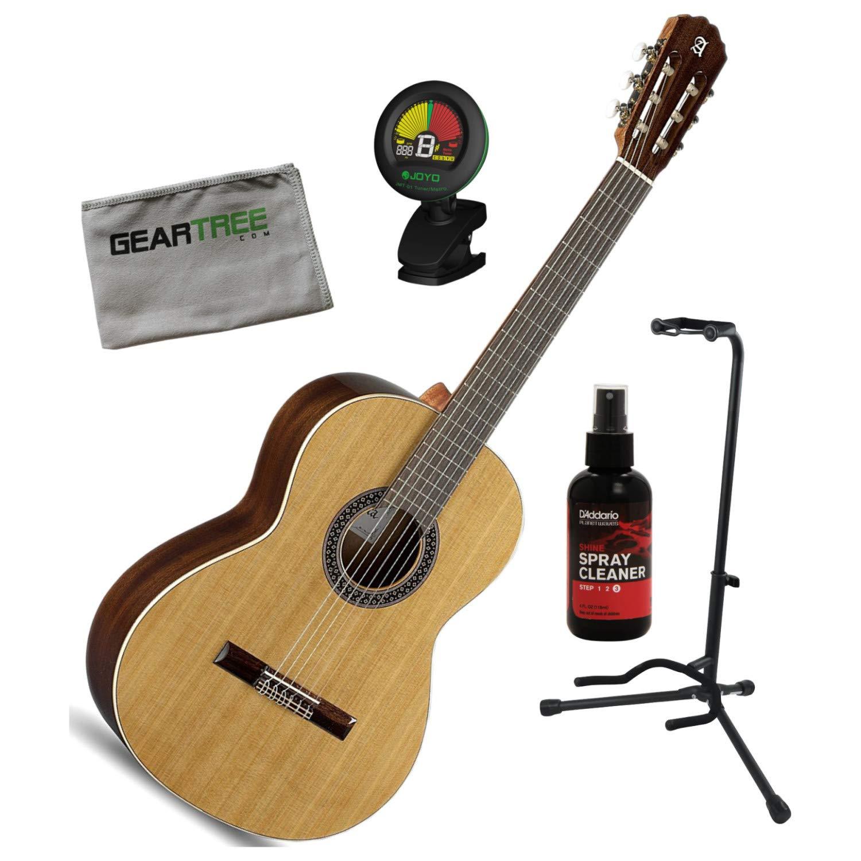 Alhambra 1C-US - Guitarra clásica con bolsa, pulido, soporte, tela ...