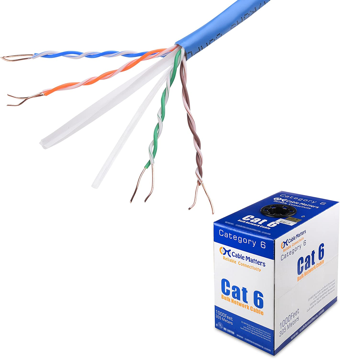 cat 6 wiring diagram riser amazon com cable matters ul listed riser rated  cmr  bare copper  cable matters ul listed riser rated