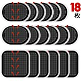 スレンダートーン 対応 EMS腹筋ベルト互換交換パッド Amtekerスレンダートーン 専用交換パッド 3枚*6セット合計18枚 |正面用 6枚 脇腹用12枚|