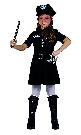 Fiori Paolo 61223 - Disfraz de policía para niño 5-7 anni Negro ...