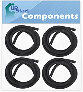 4-Pack 154827601 Dishwasher Tub Gasket Replacement for Frigidaire FFID2423RS4B Dishwasher - Compatible with 154827601 Tub Gasket - UpStart Components Brand